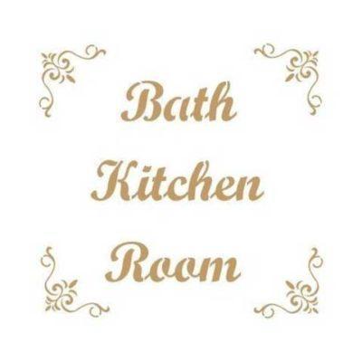 Stencil para decoración Bath - Decoracíon de muebles antiguos estilo Shabby Chic, Provenzal, Rómantico, Nórdico