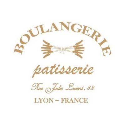 Stencil para decoración Boulangerie - Decoracíon de muebles antiguos estilo Shabby Chic, Provenzal, Rómantico, Nórdico