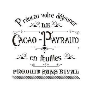 Stencil para decoración Cacao Payraud - Decoracíon de muebles antiguos estilo Shabby Chic, Provenzal, Rómantico, Nórdico