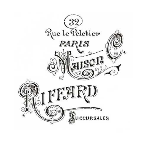 Stencil para decoración Maison Riffard - Decoracíon de muebles antiguos estilo Shabby Chic, Provenzal, Rómantico, Nórdico