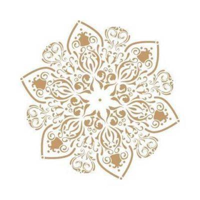 Stencil para decoración mandala - Decoracíon de muebles antiguos estilo Shabby Chic, Provenzal, Rómantico, Nórdico
