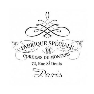 Stencil para decoración Fabrique de Montres - Decoracíon de muebles antiguos estilo Shabby Chic, Provenzal, Rómantico, Nórdico