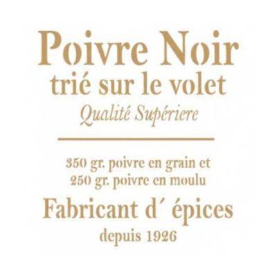 Stencil para decoración Poivre Noir - Decoracíon de muebles antiguos estilo Shabby Chic, Provenzal, Rómantico, Nórdico