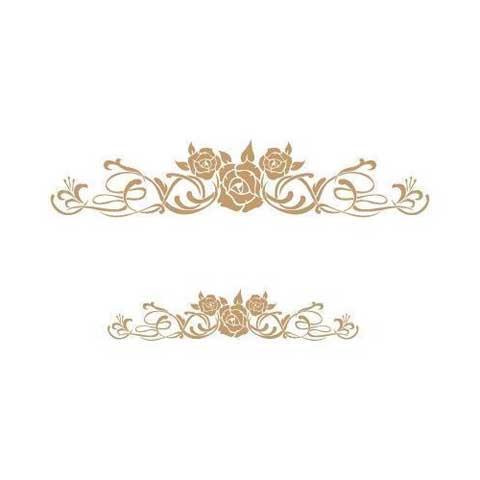Stencil para decoración rosas Shabby Chic - Decoracíon de muebles antiguos estilo Shabby Chic, Provenzal, Rómantico, Nórdico