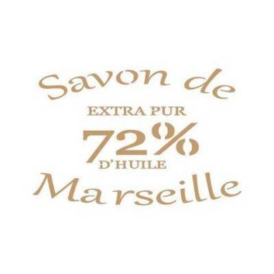 Stencil para decoración vintage Savon de Marseille - Decoracíon de muebles antiguos estilo Shabby Chic, Provenzal, Rómantico, Nórdico