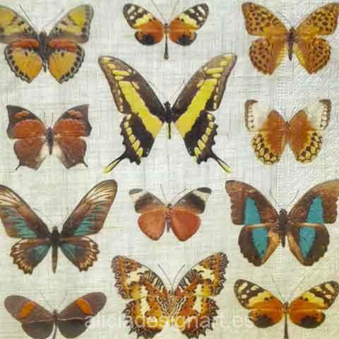 Servilleta para d coupage mariposas alicia designart for Decoupage con servilletas en muebles