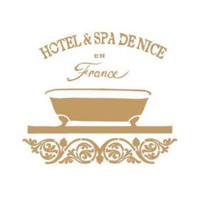 Stencil para decoración Hotel Spa de Nice - Decoracíon de muebles antiguos estilo Shabby Chic, Provenzal, Rómantico, Nórdico