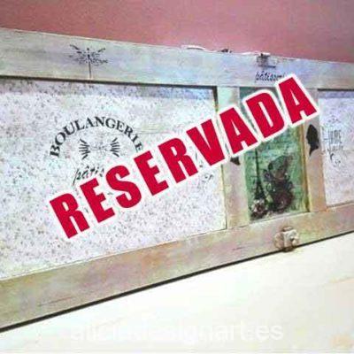 Perchero ventana reciclada Boulangerie - Taller decoración de muebles antiguos Madrid estilo Shabby Chic, Provenzal, Rómantico, Nórdico