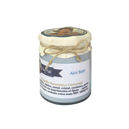 Bote pintura para decoración color Azul Baby 250 ml - Decoracíon de muebles antiguos estilo Shabby Chic, Provenzal, Rómantico, Nórdico