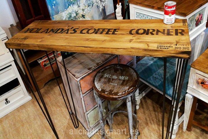 Mesa de cocina estilo industrial retro alicia designart for Mesa de cocina industrial