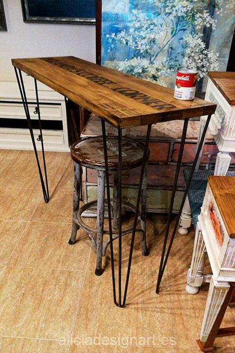 Mesa de cocina estilo industrial retro alicia designart for Cocina de estilo industrial