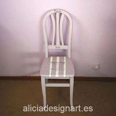 Silla provenzal antigua malva - Taller decoracíon de muebles antiguos Madrid estilo Shabby Chic, Provenzal, Rómantico, Nórdico
