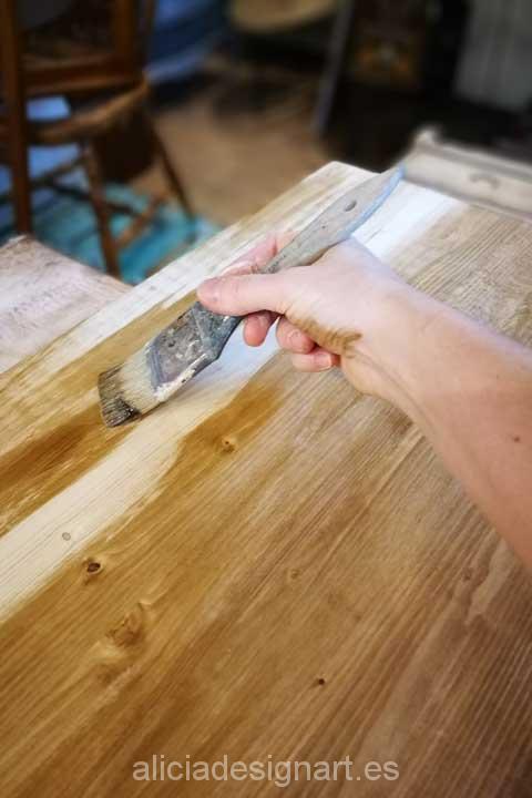 Mesa de cocina a medida con patas hairpin legs - Taller de Decoracíon de muebles a medida