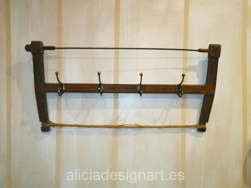 perchero industrial reciclado vintage Alicia Designart