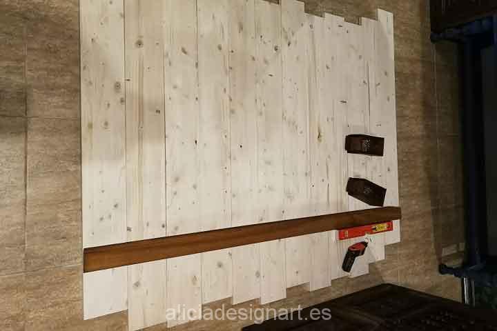Cabecero decorado por encargo - Decoracíon de muebles antiguos estilo Shabby Chic, Provenzal, Rómantico, Nórdico