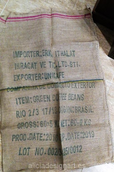saco de café reverso para tapizar arpillera yute Alicia Designart