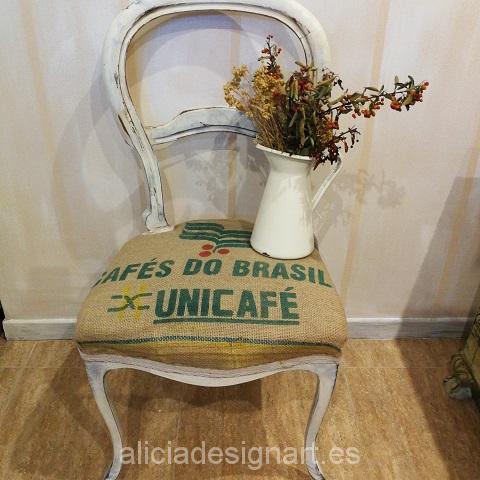 Sillas isabelinas restauradas shabby y tapizadas - Taller decoración de muebles antiguos Madrid estilo Shabby Chic, Provenzal, Rómantico, Nórdico