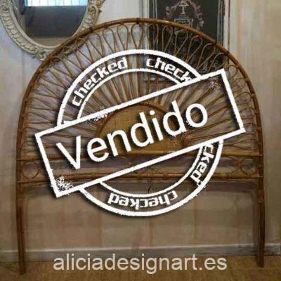 Cabecero de bambú y caña estilo vintage mid century - Taller decoración de muebles antiguos Madrid estilo Shabby Chic, Provenzal, Romántico, Nórdico