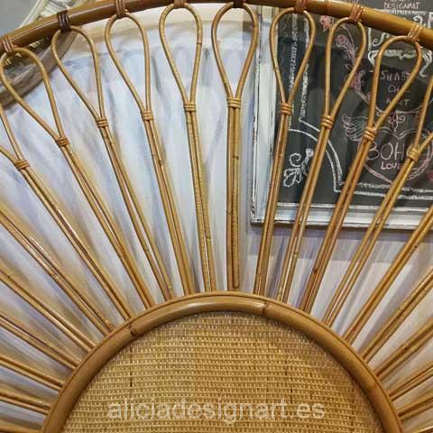 Cabecer de bambu y caña estilo vintage mid century - Taller decoracíon de muebles antiguos Madrid estilo Shabby Chic, Provenzal, Rómantico, Nórdico
