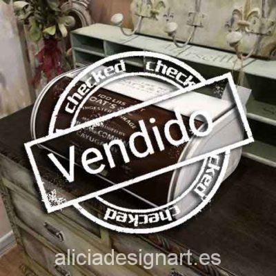 Panera antigua recuperada y decorada - Taller decoracíon de muebles antiguos Madrid estilo Shabby Chic, Provenzal, Rómantico, Nórdico