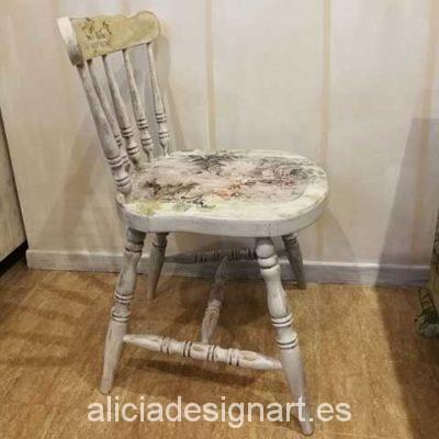 Silla antigua vintage Shabby Chic atrezzo - Taller decoracíon de muebles antiguos Madrid estilo Shabby Chic, Provenzal, Rómantico, Nórdico