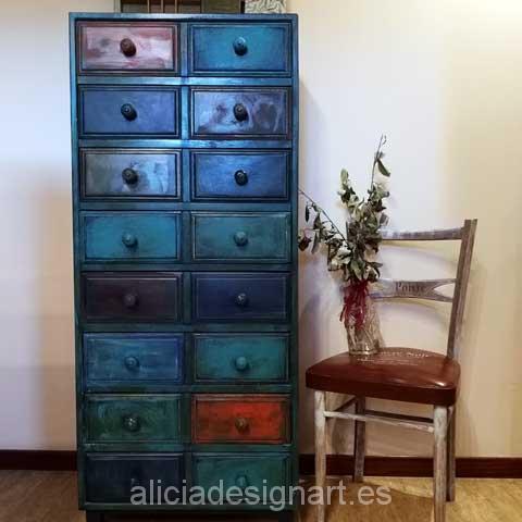 Sinfonier antiguo decorado estilo Boho Chic Etnico - Taller decoracíon de muebles antiguos Madrid estilo Shabby Chic, Provenzal, Rómantico, Nórdico