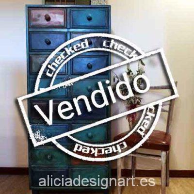 Sinfonier antiguo decorado estilo Boho Chic - Taller decoracíon de muebles antiguos Madrid estilo Shabby Chic, Provenzal, Rómantico, Nórdico