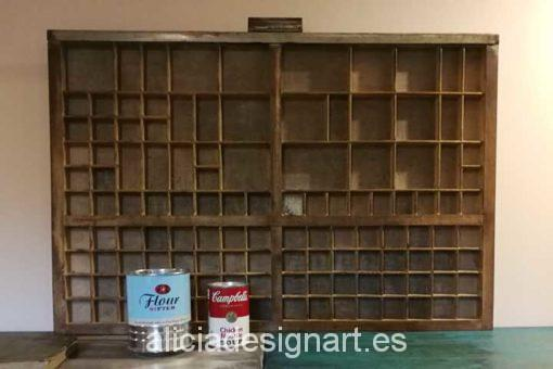 Cajón de chibalete de madera maciza - Taller decoracíon de muebles antiguos Madrid estilo Shabby Chic, Provenzal, Rómantico, Nórdico