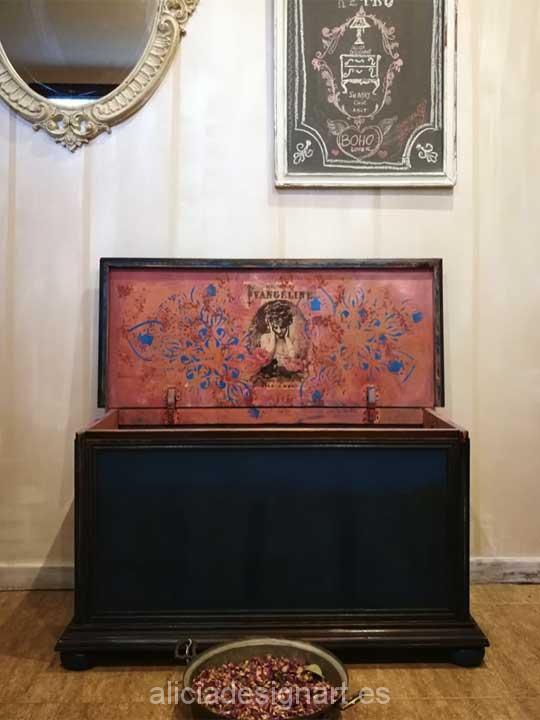 Decoraci n por encargo de ba les estilo boho chic alicia - Muebles antiguos madrid ...