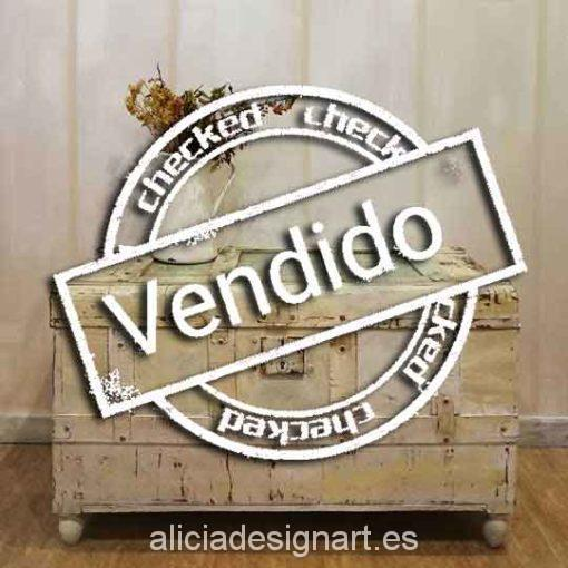 Baúl vintage midcentury estilo Shabby e Boho Chic - Taller decoracíon de muebles antiguos Madrid estilo Shabby Chic, Provenzal, Rómantico, Nórdico