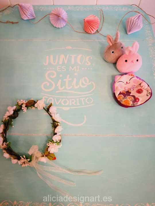 Carrito camarera candy bar Vintage en alquiler para bodas y eventos - Taller decoracíon de muebles antiguos Madrid estilo Shabby Chic, Provenzal, Rómantico, Nórdico