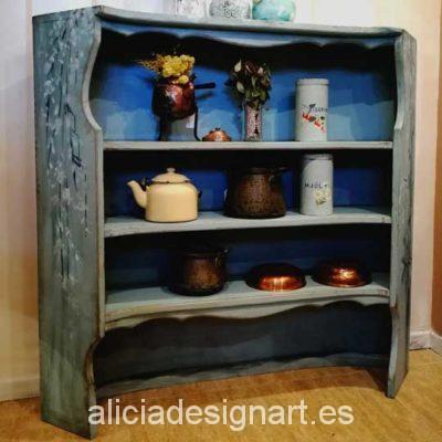Alacenas armarios vitrinas y estanter as archivos - Muebles antiguos madrid ...