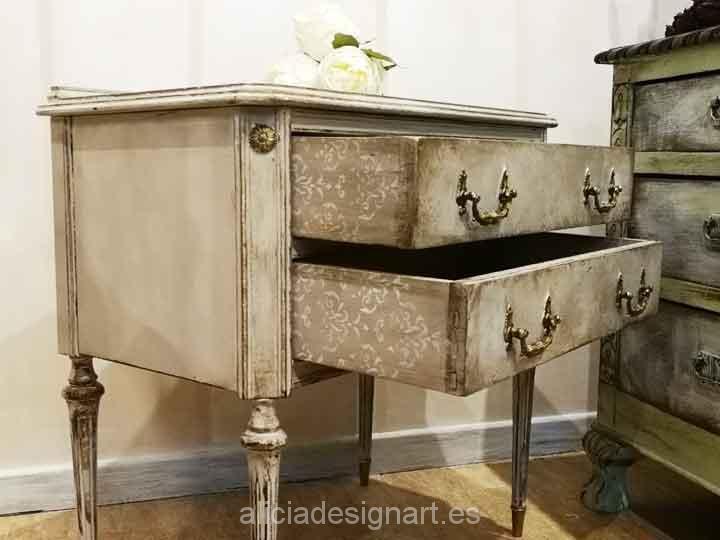 Muebles decorados por encargo: de mesitas clásicas y oscuras a shabby chic luminosas