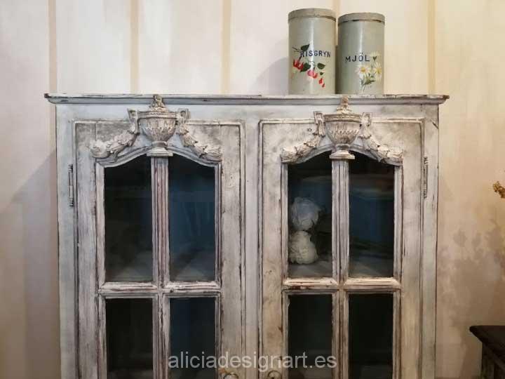 Vitrina antigua estilo shabby chic rom ntico alicia - Muebles antiguos madrid ...