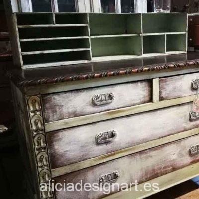 Accesorio organizador de escritorio decorado estilo Shabby Chic- Taller decoracíon de muebles antiguos Madrid estilo Shabby Chic, Provenzal, Rómantico, Nórdico