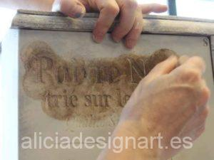 Primer curso workshop Shabby Chic, técnicas básicas de decoración - Alicia Designart, taller de decoración de muebles antiguos en Madrid.