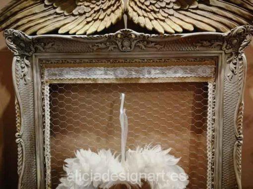 Colgador marco antiguo rococó estilo Shabby Chic francés - Taller decoración de muebles antiguos Madrid estilo Shabby Chic, Provenzal, Rómantico, Nórdico
