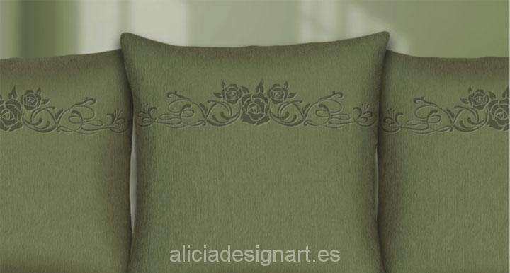 Stencil estarcido XL rama de rosas - Taller decoracíon de muebles antiguos Madrid estilo Shabby Chic, Provenzal, Rómantico, Nórdico