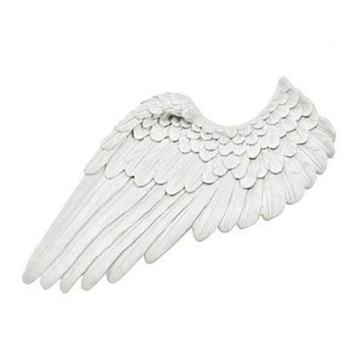 Pack de dos alas de ángel en resina blanca de Cadence para decorar - Taller decoración de muebles antiguos Madrid estilo Shabby Chic, Provenzal, Rómantico, Nórdico