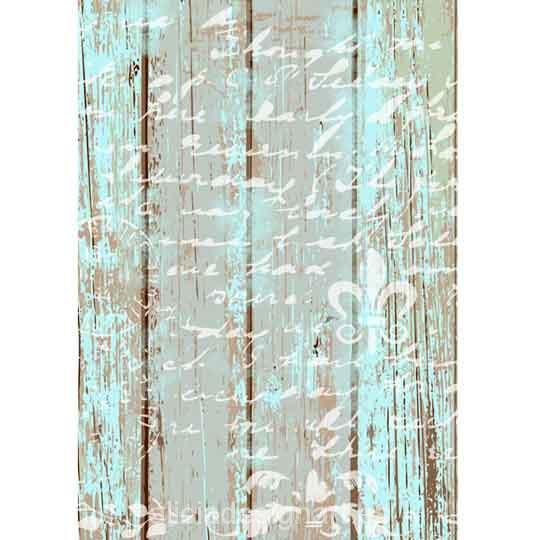 Papel de arroz texto sobre madera Shabby Chic de Cadence ref 888385 - Taller decoración de muebles antiguos Madrid estilo Shabby Chic, Provenzal, Rómantico, Nórdico