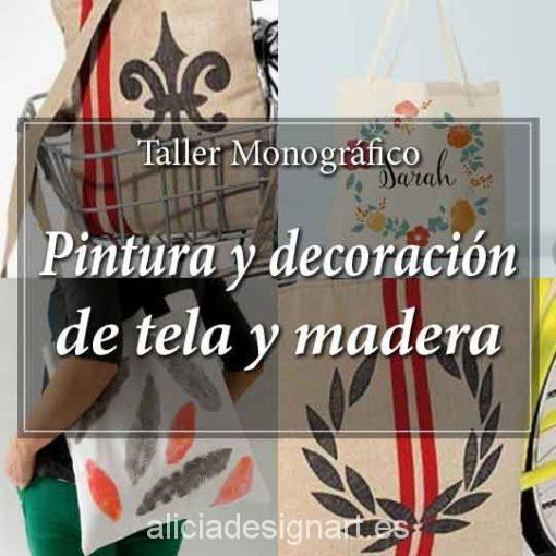 Workshop de decoración y pintura de tela y madera 180707 - Taller decoracíon de muebles antiguos Madrid estilo Shabby Chic, Provenzal, Rómantico, Nórdico