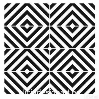 Plantilla de stencil estarcido XL con formas geométricas Cadence Home Decor HD146 - Taller decoración de muebles antiguos Madrid estilo Shabby Chic, Provenzal, Romántico, Nórdico