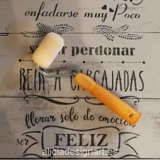 Rodillos para pintar y decorar, con mango - Taller decoración de muebles antiguos Madrid estilo Shabby Chic, Provenzal, Rómantico, Nórdico