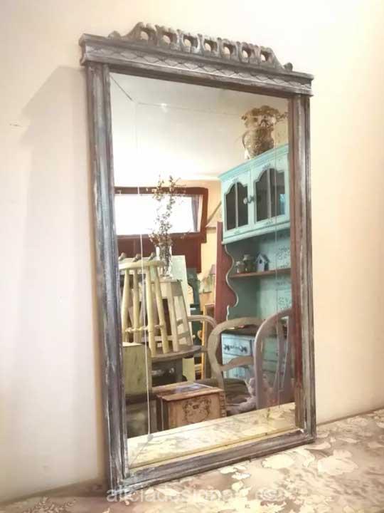 Espejo antiguo art deco decorado estilo shabby chic - Espejo veneciano antiguo ...
