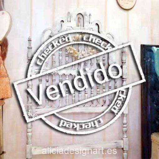 Cabecero antiguo Valenti Shabby Chic - Taller decoración de muebles antiguos Alicia Designart Madrid.