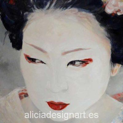 Hoja de papel de arroz para decoupage - Taller decoración de muebles antiguos Alicia Designart Madrid.