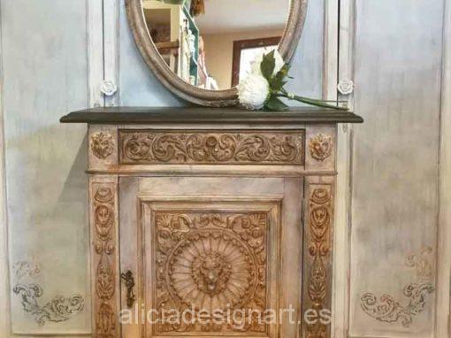 Taquillón vintage recuperado y decorado por encargo