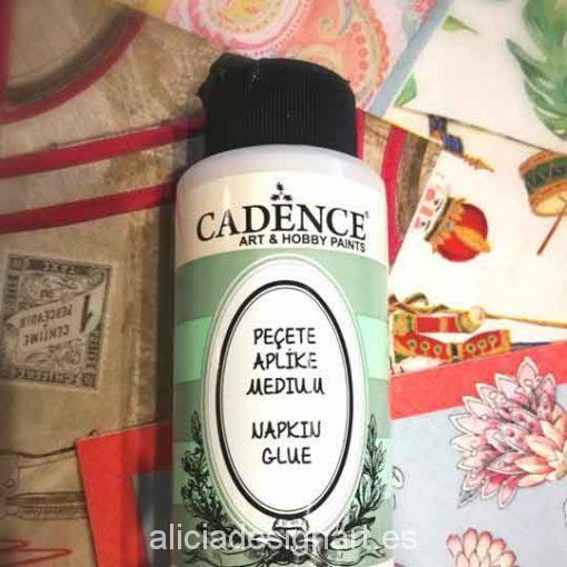 Pegamento para découpage con servilletas de Cadence - Taller decoración de muebles antiguos Madrid estilo Shabby Chic, Provenzal, Rómantico, Nórdico