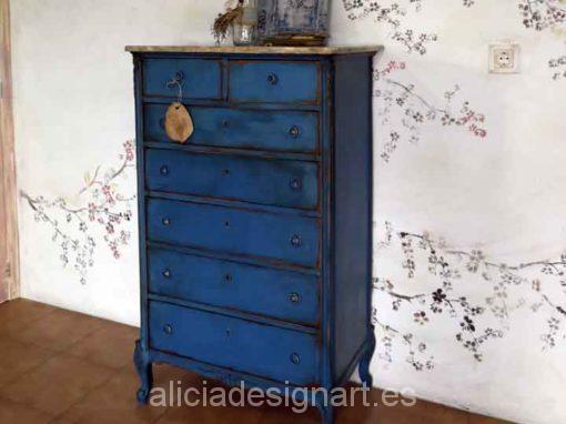 Sinfonier antiguo azul con patas isabelinas