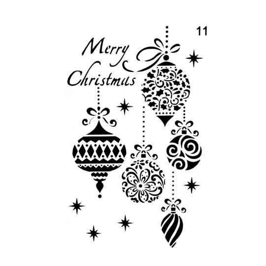 Plantillas Para Decorar Ventanas En Navidad.Plantilla De Stencil A4 Navidad